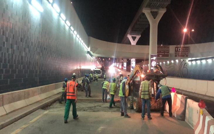 Nakheel - Reinstatement of Damaged Asphalt at Spine Underpass at Palm Jumeirah
